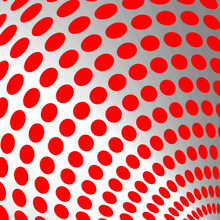 Red And White Color Round Pattern