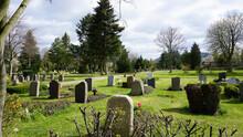 Friedhof Mit Alten Grabsteinen Im Frühling, Park