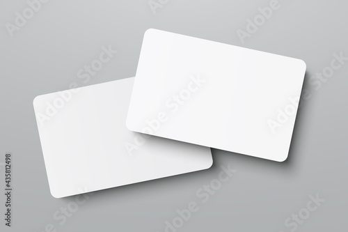 Tela Mockup realistic business cards, gift card paper placeholder template mockup wit