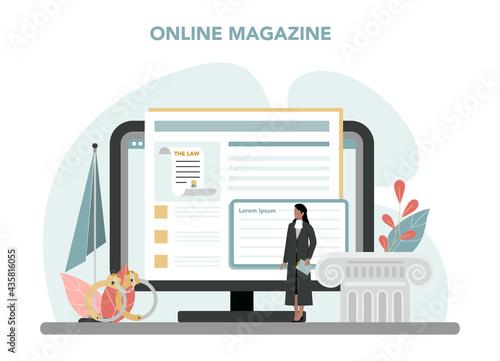 Fotografia Judge online service or platform
