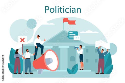 Politician concept Fototapet