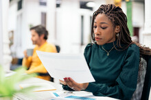 African Woman Working In The Office