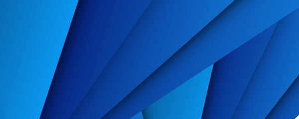 Abstract triangles shape on blue background. 3D blue abstract business background with layered triangles