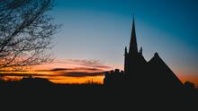 English Church Silhouette