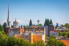 Salem, Oregon, USA Downtown Cityscape