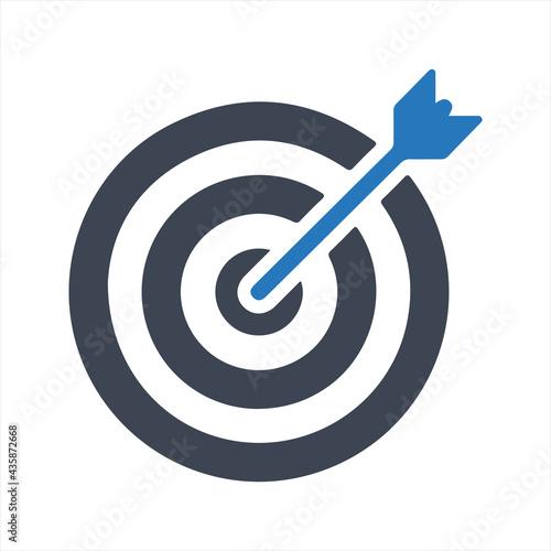 Wallpaper Mural Arrow target icon, vector and glyph