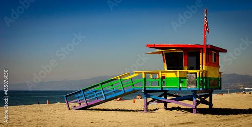 Fotografie, Tablou rainbow lifeguard shack