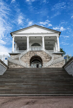 Stone Staircase To The Entrance To The Cameron Gallery. Tsarskoe Selo, St. Petersburg. Russia