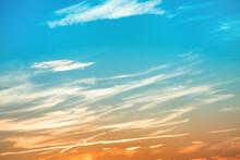 Beautiful Sunset Blue And Orange Sky