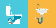 Clogged Toilet And Sink: Drain Problems