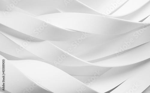 Fototapeta White abstract background, wavy elements