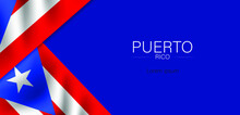 Puerto Rican Day. Festival And Parade In Honor Of Independence And Freedom. Puerto Rico Flag. Latin American Country. Vector Poster Illustration