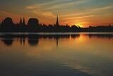 Zachód słońca w Lubece