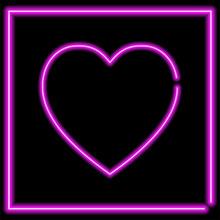 I Love U Logo Or Symbol Template Design With Nion Light