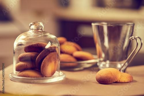 Fototapeta butter cookies in the jar