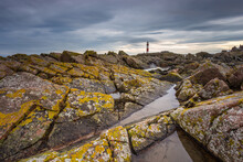 Lighthouse At Boddam Aberdeenshire Scotland UK On The North Sea.