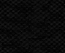 Vector Black Camouflage, Seamless Digital Background, Stylish Pattern For Printing Clothes, Fabric.