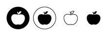 Apple Icon Set. Apple Vector Icon. Apple Symbols For Your Web Design.