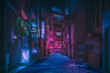 Leinwandbild Motiv neon lights streets at night asian street, china. Taiwan. japan street