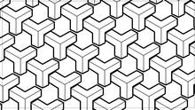 Patrón Geométrico Abstracto Con Líneas. Textura En Blanco Y Negro.