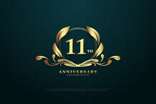 11th Anniversary Background For Celebrations.