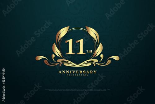 Valokuva 11th anniversary background for celebrations.