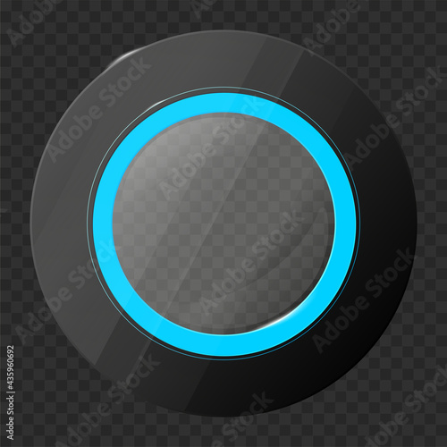 Shiny semitransparent glossy circle button #435960692