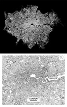 London (England, United Kingdom) Light Poster City Centre Map. High Printable Detail Travel Vector Map Template With Water Objects, Roads, Railways.