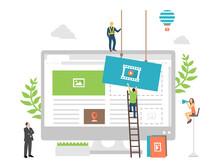 Web Development Concept  Vector  Illustration