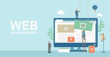 Web Development Concept  Vector Banner Illustration