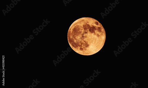 Slika na platnu The full moon is the lunar phase when the Moon appears fully illuminated from Earth's perspective