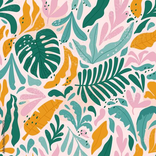 Tapety Tropikalne  tropikalny-wzor-z-monstera-i-egzotycznych-lisci-wektor