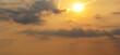 Sonnenuntergang wolkig