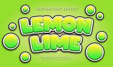 Lemon Lime Editable Text Effect Themed Fresh Fruit