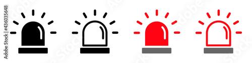 Stampa su Tela Set of siren icons, alarm siren