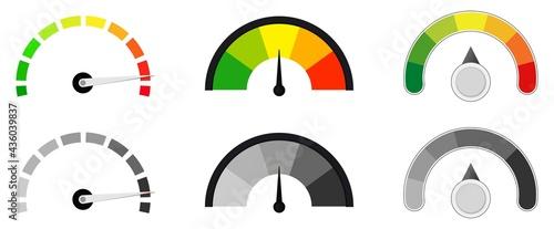 Fotografiet car fuel gauge vector