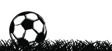 Flat Vector Black Grunge Soccer Ball. Grungy Football. 2020, 2021 Cartoon Sport EK, WK Pictogram Euro Sports Game Cup.