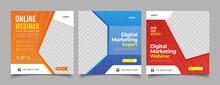 Editable Post Template Social Media Banners For Digital Marketing.
