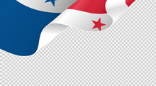 Waving Flag Of Panama Isolated  On Png Or Transparent  Background,Symbols Of Panama , Template For Banner,card,advertising ,promote, TV Commercial, Ads, Web Design,poster, Vector Illustration