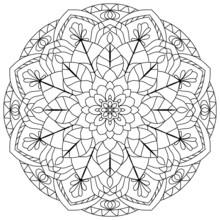 Mandala Pattern, Ornament, Coloring Page