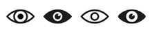 Set Of Eyes Icon, Eye Sign Design