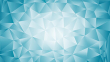 Abstract Mosaic Background With Triangle Particles. Blue Gradient Puzzles. Vector Illustration