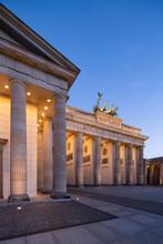 Brandenburg Gate At Night, Berlin, Germany