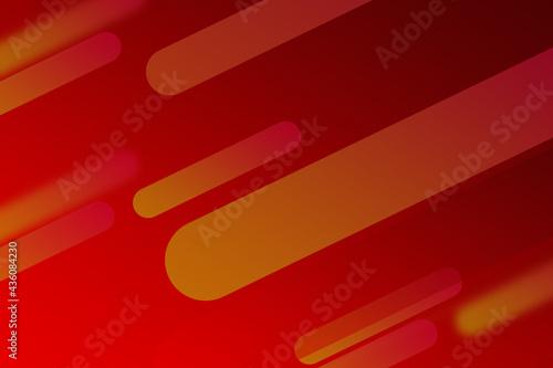 Czerwone tło z elementami, abstrakcja