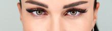 Cropped Female Face With Long Eyelashes Closeup