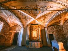 The Capela Dos Ossos, Chapel Of Bones In Evora Portugal
