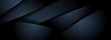 Abstract Dark Navy Background With Minimal Shape And Overlap Textured Layer.