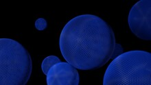 Abstract 3D Rendering Of Geometric Shapes. Modern Background Design With Spheres. Spheres Background