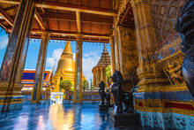 Wat Phra Kaew Is A Sacred Temple And It's A Part Of The Thai Grand Palace, The Temple That Houses An Ancient Emerald Buddha