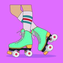Editable Flat Vector Of Roller Skates